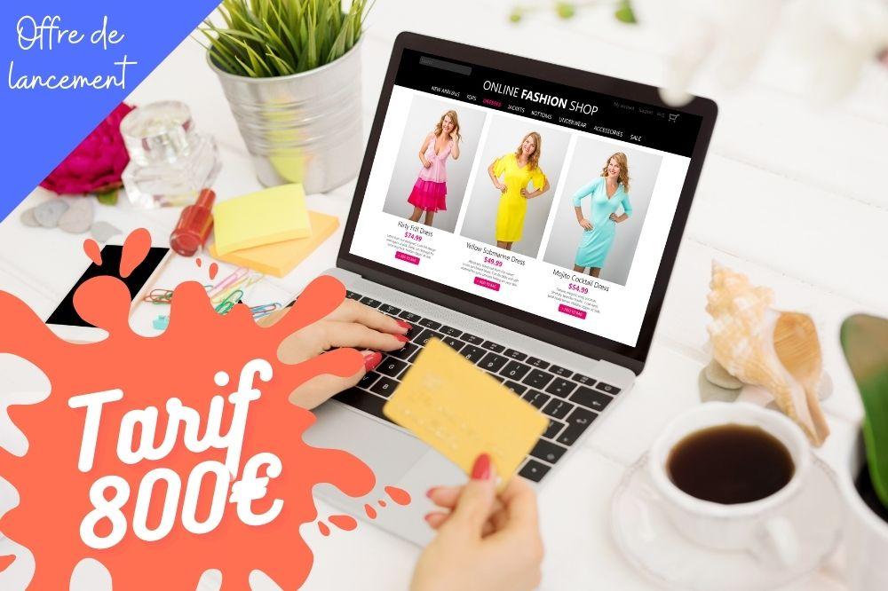créer un site internet e-boutique pas cher à 800€